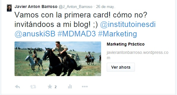 Tweet Card Javier Anton Barroso